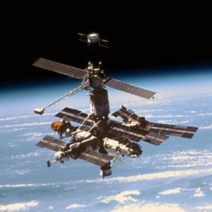 The Mir space station.