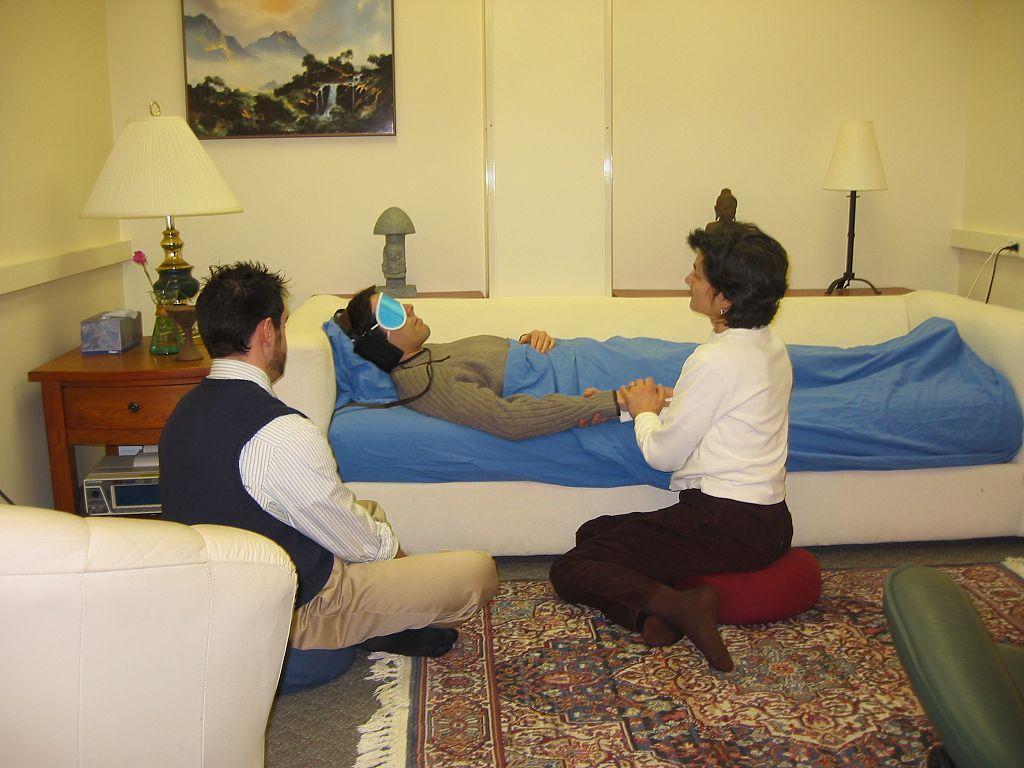 Volunteers and subject at Johns Hopkins psilocybin study.