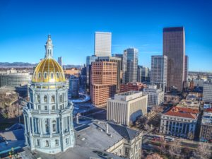 Downtown Denver and the capitol building